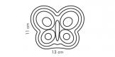Molde de silicona en forma de mariposa DELÍCIA KIDS