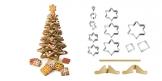 Choinka Bożonarodzeniowa duża DELICIA, komplet wykrawaczy