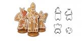 Św. Mikołaj, Anioł i Diabeł z piernika DELICIA, zestaw foremek do wykrawania