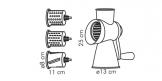 Ralador multiusos HANDY, 4 cilindros