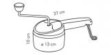 Ralador rotativo HANDY, 3 discos