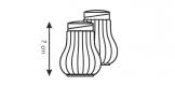 Saleiro e pimenteiro CLASSIC