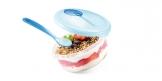 Cestovná miska PAPU PAPI, s lyžičkou, modrá