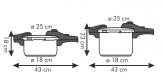 Panelas de pressão BIO EXCLUSIVE+ DUO 4.0 + 6.0 l
