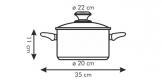 Casserole PRESTO with cover, ø 22 cm, 4.0 l