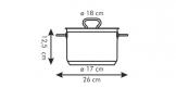 Panela HOME PROFI c/tampa ø 18 cm, 3.0 l