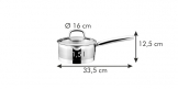 Caçarola PRESIDENT com tampa coadora ø 16 cm, 1.5 l
