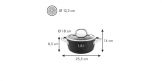 Casserole PRESIDENT Stone with cover ø 18 cm, 1.8 l