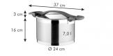 Panela ULTIMA com tampa ø 24 cm, 7.0 l