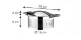 Tacho ULTIMA com tampa ø 16 cm, 1.5 l