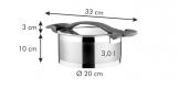 Tacho ULTIMA com tampa ø 20 cm, 3.0 l