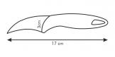 Curved peeling knife, 8 cm