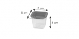 Mini caixas saudáveis para congelador PURITY 120 ml, 4 pcs