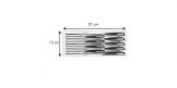 Knife tray FlexiSPACE 370 x 148 mm, for 9 knives