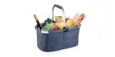 Składany koszyk na zakupy SHOP! denim style
