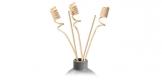 Decorative rattan sticks FANCY HOME, 3 pcs, spirals