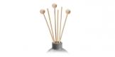 Decorative rattan sticks FANCY HOME, 3 pcs, spheres