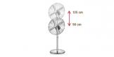 Напольный вентилятор FANCY HOME ø 40 см, хром