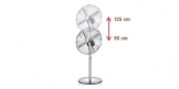 Stand fan FANCY HOME ø 40 cm, chrome