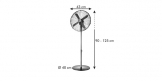 Ventilatore a piantana FANCY HOME ø 40 cm, antracite