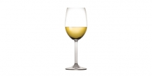White wine glasses CHARLIE 350 ml, 6 pcs