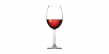 Red wine glasses CHARLIE 450 ml, 6 pcs