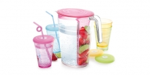 Pitcher myDRINK 2.5 l, 4 cups with lids