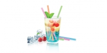 Drinking straws myDRINK, with stirrer, 24pcs