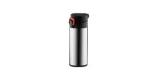 Sports vacuum flask with lock CONSTANT 0.3 l, stainless steel