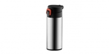 Sports vacuum flask with lock CONSTANT 0.5 l, stainless steel