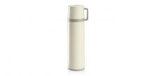 Vacuum flask with cup CONSTANT CREAM 1.0 l, stainless steel