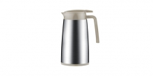 Vacuum flask with dispenser CONSTANT MOCCA 1.2 l, stainless steel