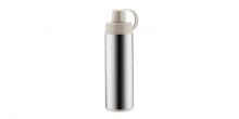 Sports vacuum flask with strainer CONSTANT MOCCA 0.5 l, stainless steel