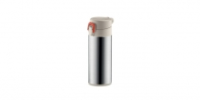 Sports vacuum flask with lock CONSTANT MOCCA 0.3 l, stainless steel