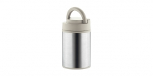 Vacuum flask for food CONSTANT MOCCA 1.0 l, stainless steel