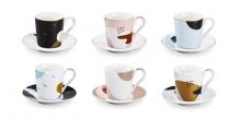 Чашка для эспрессо myCOFFEE, с блюдцем, 6 шт., Moon