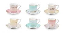 Чашка для эспрессо myCOFFEE, с блюдцем, 6 шт., Romance