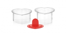 Food shaping moulds PRESTO FoodStyle, hearts, 2 pcs