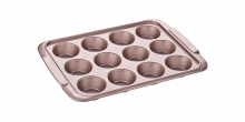 12 muffins pan DELÍCIA GOLD 39x28 cm