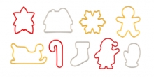 Christmas cookie cutters DELÍCIA, 9 pcs
