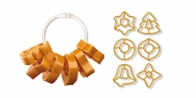 Cookie cutters Christmas decorations DELÍCIA, 6 pcs, 2 ribbons