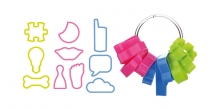 Funny cookie cutters DELÍCIA KIDS, 10 pcs