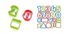 Cookie cutters numbers DELÍCIA KIDS, 21 pcs