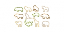 Cookie cutters ZOO DELÍCIA KIDS, 12 pcs