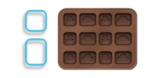 Moldes de chocolate con cortapastas DELÍCIA KIDS, coches