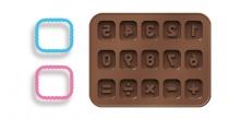 Moldes de chocolate con cortapastas DELÍCIA KIDS, números