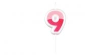 Velas para aniversário DELÍCIA KIDS, nove