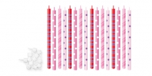 Velas de aniversário DELÍCIA KIDS 12 cm, 16 pcs