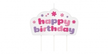 Vela de aniversário DELÍCIA KIDS, Happy birthday