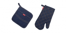 Oven mitt and heatproof mat PRESTO DENIM, for him